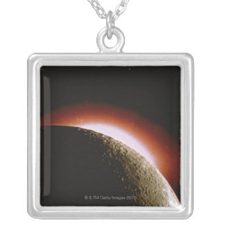 The Sun's Corona Silver Plated Necklace