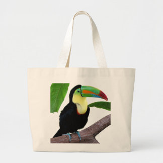 """The superior product """"of Keel-billed Toucan"""" Large Tote Bag"""