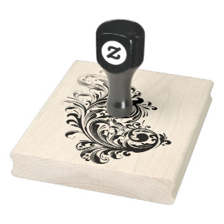 The Swirl Rubber Stamp 4X5