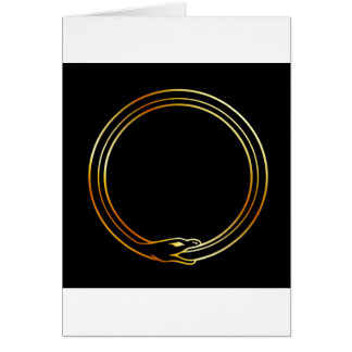 The symbol of Ouroboros snake Card