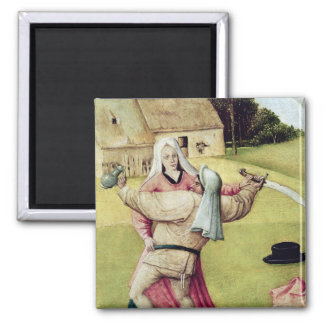 The Table of the Seven Deadly Sins Square Magnet