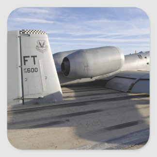 The tail section of an A-10 Thunderbolt II Square Sticker