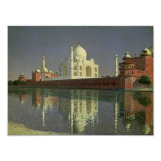 The Taj Mahal, 1874-76 Poster