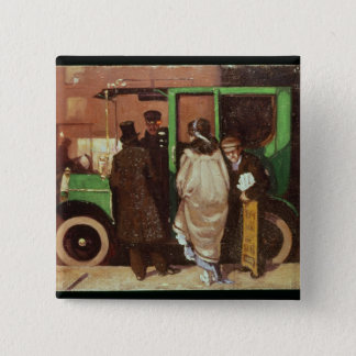 The Taxi Cab, c.1908-10 15 Cm Square Badge