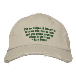 The Technique of Infamy is... Embroidered Hat