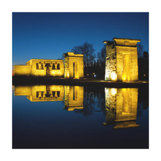 The Temple of Debod in Madrid Spain Stretched Canvas Print