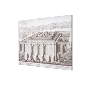 The Temple of Solomon, Jerusalem, from 'Entwurf ei Canvas Print