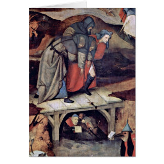 The Temptation Of St Anthony By Hieronymus Bosch Greeting Cards