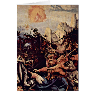 The Temptation Of St. Anthony By Mathis Gothart Greeting Card