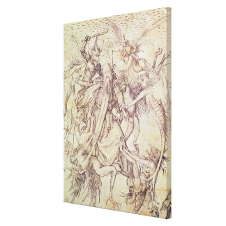 The Temptation of St. Anthony (engraving) Canvas Print
