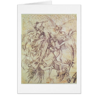 The Temptation of St. Anthony (engraving) Card