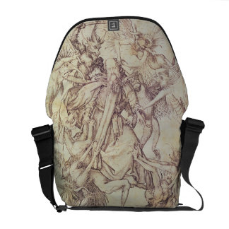The Temptation of St. Anthony (engraving) Courier Bags
