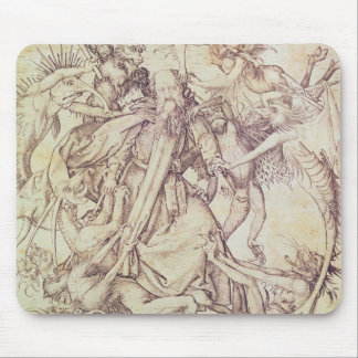 The Temptation of St. Anthony (engraving) Mouse Pad
