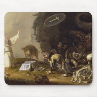 The Temptation of St. Anthony (panel) Mouse Pad