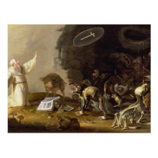 The Temptation of St Anthony panel Postcards