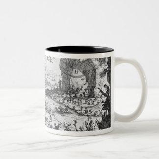 The Temptation of St. Anthony Two-Tone Coffee Mug
