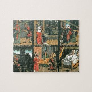 The Ten Commandments by Lucas Cranach the Elder Puzzle