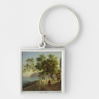 The Terrace of the Capucins in Sorrento, 1828 Key Ring