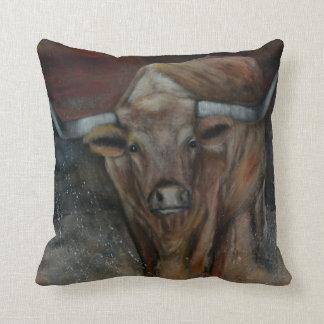 The Texas Longhorn Bull Cushion
