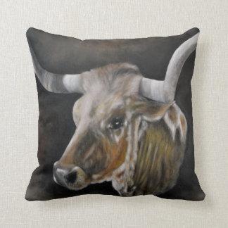 The Texas Longhorn Cushion