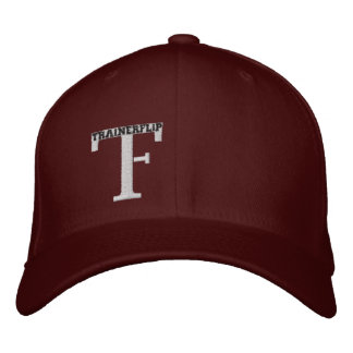 The TF hat in Maroon Embroidered Hats