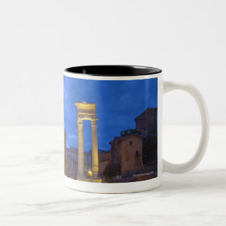The Theater of Marcellus in Rome at night Two-Tone Coffee Mug