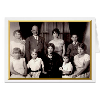 The Thomas Cecil Crosland Clan Family Portrait Card