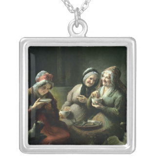 The Three Gossips Silver Plated Necklace