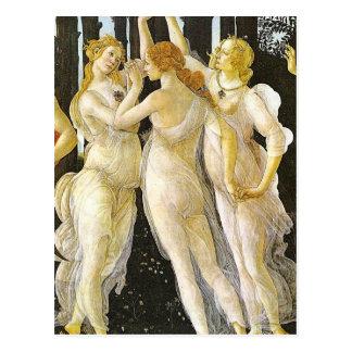 The Three Graces by Sandro Botticelli Postcard