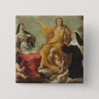 The Three Marys, 1633 (oil on canvas) 15 Cm Square Badge