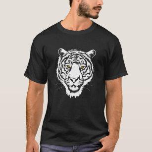 The tiger portrait - white sketch. T-Shirt