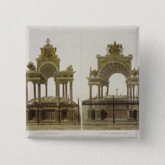 The Tombs of Queen Elizabeth I and Mary Queen of S 15 Cm Square Badge