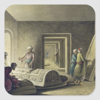The Tombs of the Kings of Judah, Jerusalem, pub. b Square Sticker