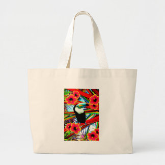 The toucan large tote bag