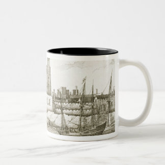 The Tower of London, 1647 (engraving) Two-Tone Coffee Mug