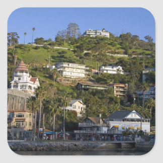 The town of Avalon on Catalina Island, Square Sticker