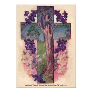 The Tree Of Life Cross Easter Invitation
