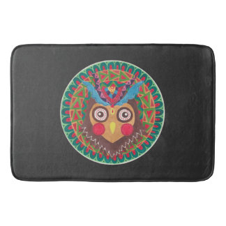 The Tribal Great Horned Owl Bath Mats