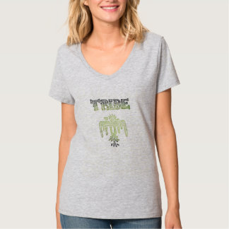 The Tribe Womens Hanes Nano V-Neck T-Shirt