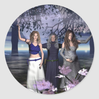 The Triple Goddess Classic Round Sticker