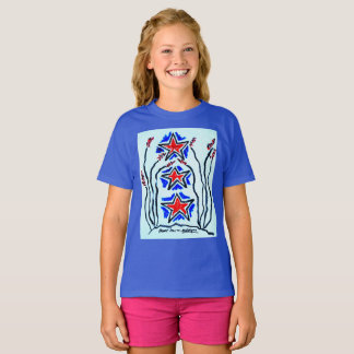 """The """"Triple Star"""" girls T shirt by Neil Myers"""