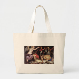 The Triumph of the Victory by Peter Paul Rubens Large Tote Bag