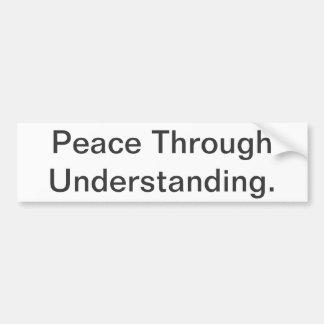 The Truth About Peace - Minimalist Bumper Sticker