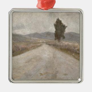 The Tuscan Road, c.1899 (board) Silver-Colored Square Decoration
