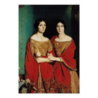 The Two Sisters, or Mesdemoiselles Chasseriau Print