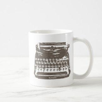 the typewriter - diamond plate coffee mug