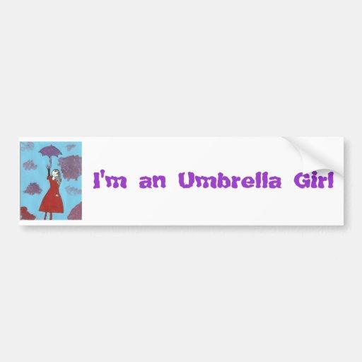 The Umbrella Girl Bumper Sticker