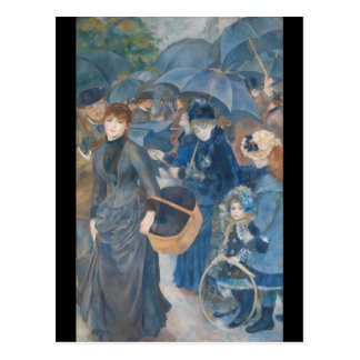 The Umbrellas by Pierre-Auguste Renoir (1881-86) Postcard