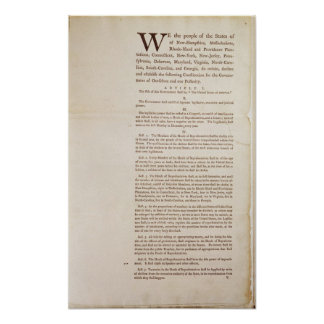 The United States Constitution, 1787 Poster