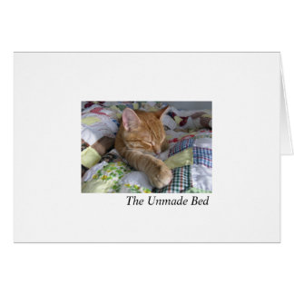 The Unmade Bed Greeting Card